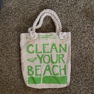 """Rosy """"Clean Your Beach"""" tote bag NWOT"""